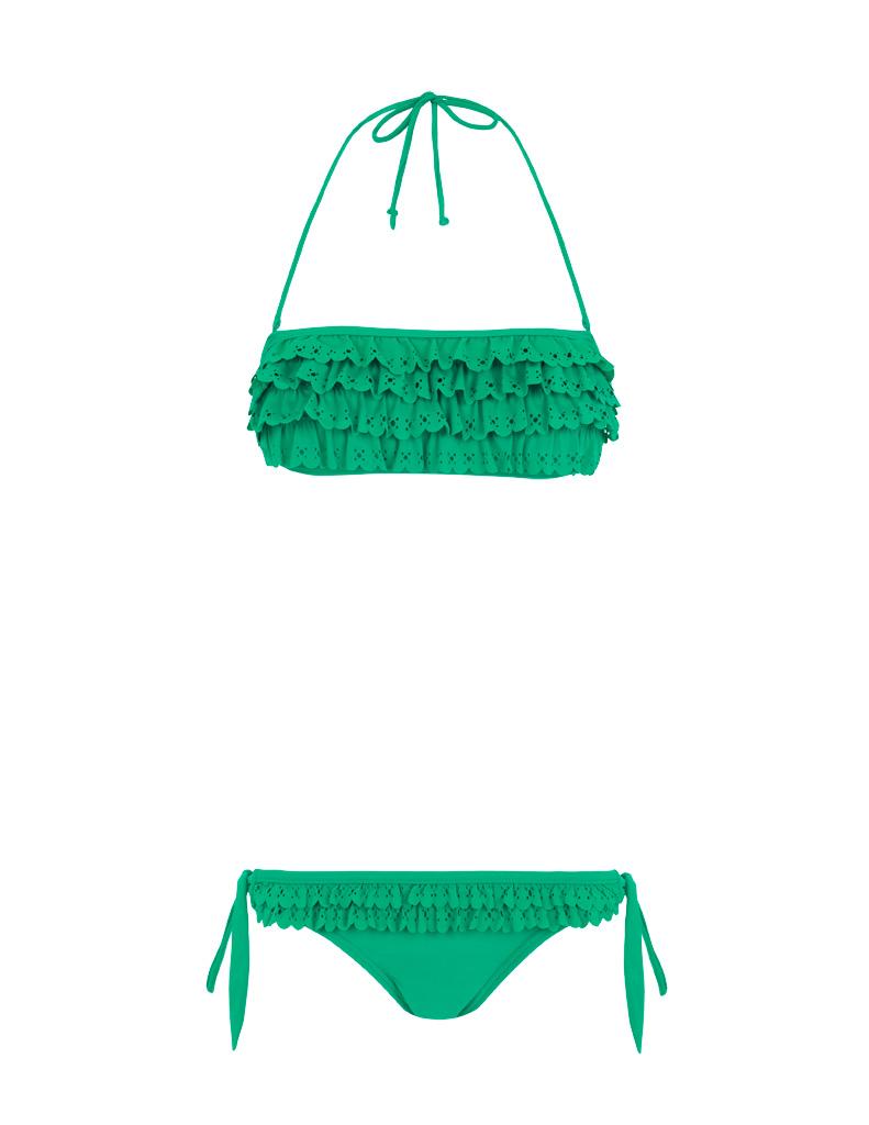 bikini verde blanco