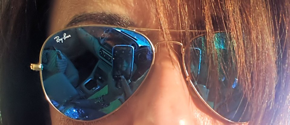 c3164ef514 BLUE MIRRORED RAY-BAN AVIATOR – Las Carries pisan Fuerte