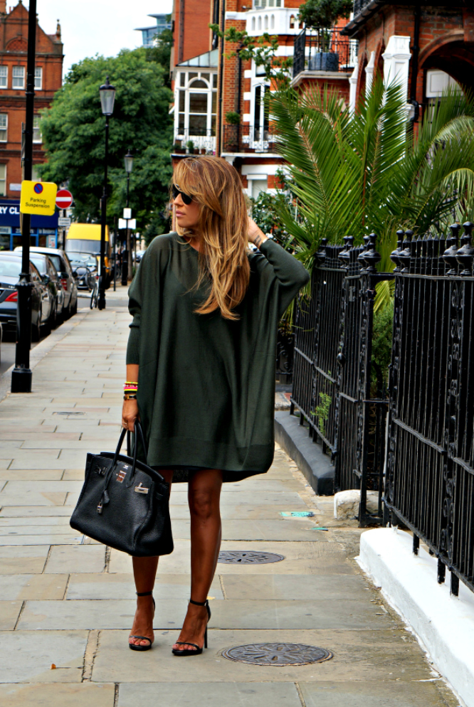 01a-street style-maxi-sweater-wings-green-saint laurent-heels-london-birkin-black-hermes