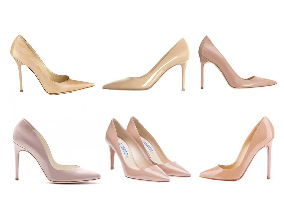 nude shoes pumps designers louboutin prada jimmy choo manolo blahnik